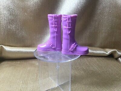 SHOES  BARBIE DOLL FASHIONISTA MUTED BRONZE TAN HIGH HEEL COWBOY ANKLE BOOTS