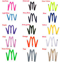 Fashion Unisex Men Women Clip-on Suspenders Elastic Y-Shape Adjustable Braces