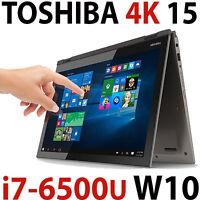 32gb 4k 256gb Ssd + 1tb 6th I7-6500u Toshiba Satellite P50w 15.6 Touch Laptop