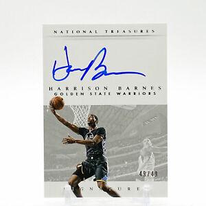 2014-15 Panini National Treasures Basketball Signatures /49 Harrison Barnes
