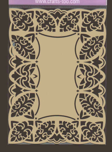Dentelle artistique Cadre feuille Stencil METAL Gaufrer Gaufrer * Ovale
