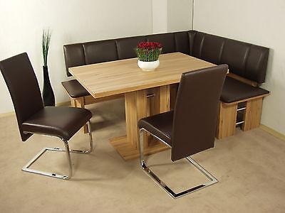 Eckbankgruppe Tisch Eckbank Stühle Tischgruppe Essecke Modern Kernbuche