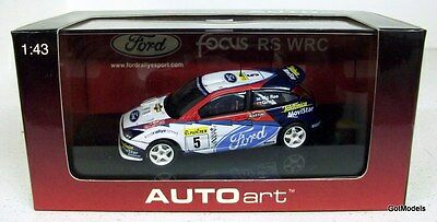 AUTOART 1/43 - 60212 FORD FOCUS RS WRC MONTE CARLO RALLY 2002 C. MCRAE / GRIST