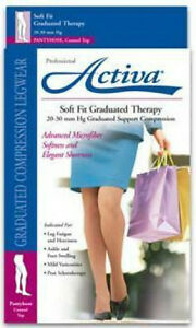 Activa-Compression-Pantyhose-20-30-mmHg-Supports-Hose-Soft-Fit-Stocking-Waist