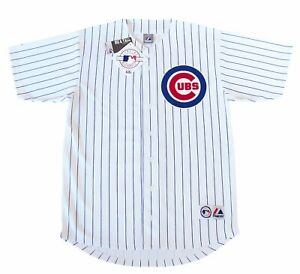 Chicago-Cubs-MLB-Majestic-Pinstripe-Big-amp-Tall-Home-Men-039-s-Replica-Jersey