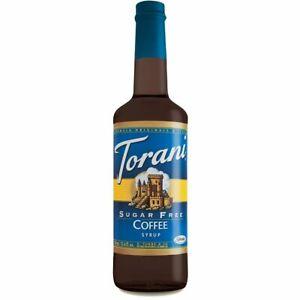 Torani Sugar Free Coffee Syrup 750mL DATE BSB APRIL 2021