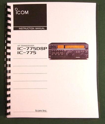 Icom IC-775DSP Instruction manual Premium Card Stock Covers /& 28 LB Paper!