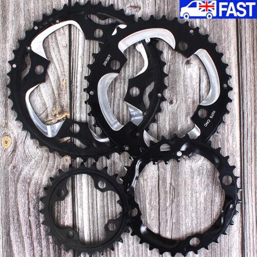 104bcd 64bcd 24//26//32//38//42T Double//Triple Speed Chainring MTB Bike Crankset