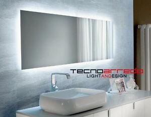 Specchio retroilluminato personalizzabile in forme e dimensioni camere bagni ebay - Specchi retroilluminati per bagno ...
