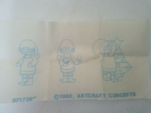 Artcraft Concepts Christmas Elves # 2080 Needlepoint Kit VTG NEW 1980