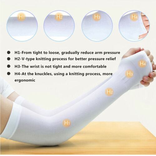 UPF 50 Compression Arm Cover Shield 5PCS UV Sun Protection Cooling Arm Sleeves