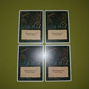 Evil-Presence-x4-Fourth-Edition-4th-4x-Playset-Magic-the-Gathering-MTG