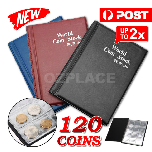 Penny New Storage Wonderful Pockets Collection Album Book Coin Holder 120 Coin