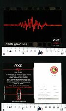 AXE - FOR MUSIC - ROCK YOUR LIFE - CARTOLINA PUBBLICITARIA - 57022