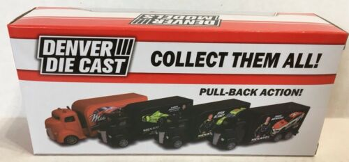 New Paul Menard Nascar 21 Wood Brothers Denver Diecast Pull-Back Truck Menards