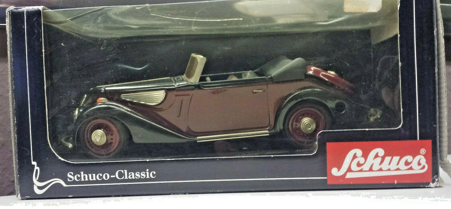 Schuco Classic BMW 327 Cabriolet Type. nº 00011 car car car Western Germany Box Key 3e1db7
