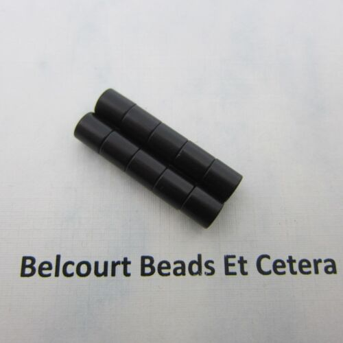 5 BLACK Magnetic Clasps 5 CLASPS Strong  Each pc is 6mm for a 12mm clasp
