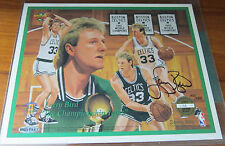 Larry Bird 8.5x11 Signed Photo Card - Celtics - Upper Deck Authenticated UDA