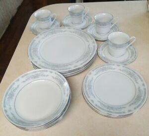 COMPLETE-SERVICE-FOR-4-CROWN-MING-JIAN-SHIANG-DIANA-FINE-CHINA-DINNERWARE