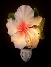 "Hummingbird & Hibiscus Flower Night Light 6"""