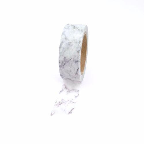 Marble Washi Tape Grey 15mm x 10m