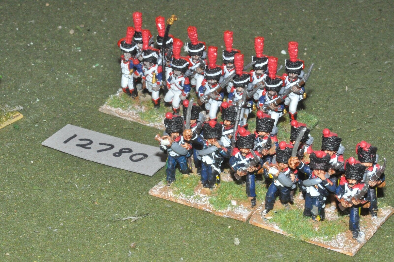 25mm napoleonic   french - guard infantry 24 figs - inf (12780)