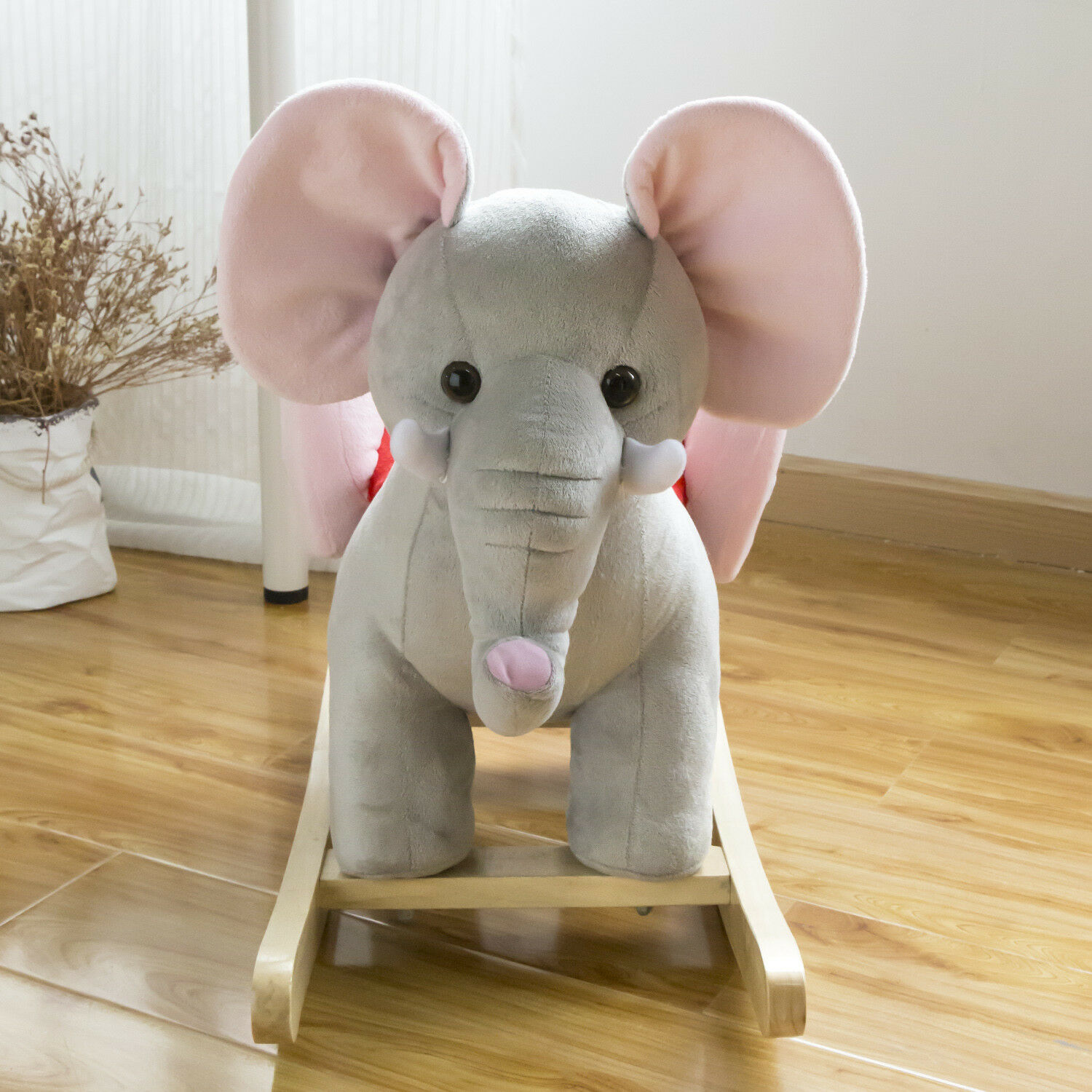 Rocking Horses Rocking Horse Elephant Kids Plush Ride On Toy Toddler Riding Rocker Sound Toys Hobbies
