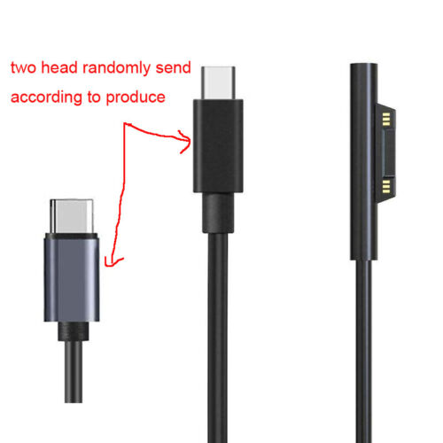 Type C Power Supply Charger Adapter Cable for Microsoft Surface Pro 5 4 3 6 Book