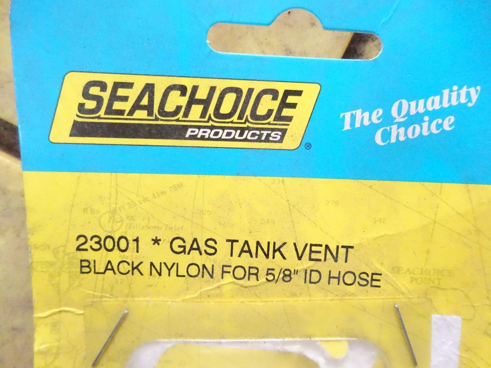 Black Nylon fuel gas tank vent 5//8 in ID hose boat marine straight square 23001