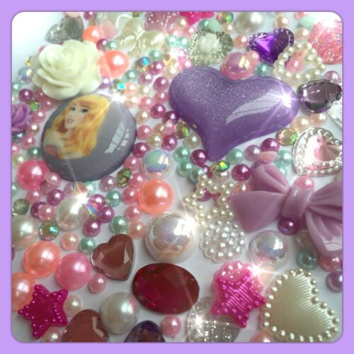 DISNEY BELLA ADDORMENTATA #1 tema Cabochon Gemma /& Perle Flatbacks PANNA Crafts