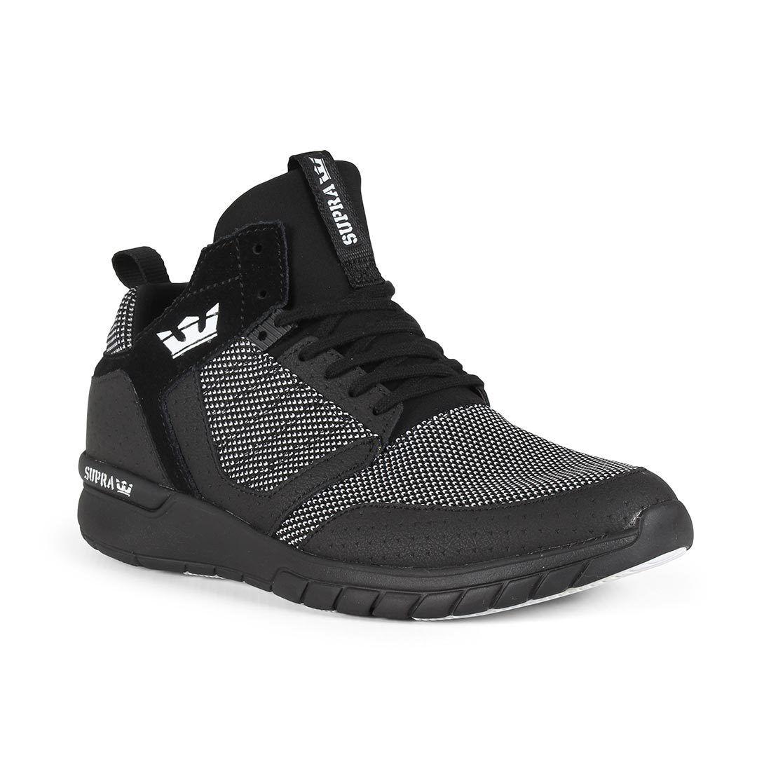 Método Supra Zapatos-Negro blancooo Negro