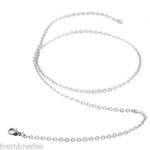 5 Collier Chaîne Croix Acier inoxydable Superbe Accessoire Fermoir 65cm