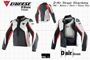 dainese d air street silverstone leather jacket white. Black Bedroom Furniture Sets. Home Design Ideas
