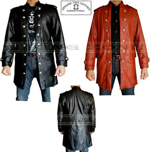 more photos 20014 589f3 Dettagli su Elegante da Uomo lungo Moda Premium & Buona Qualità Analene  Cappotto di pelle /