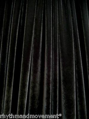 Dance Costume Fabric Black Velvet 4 Way STRETCH 50cm X 150cm