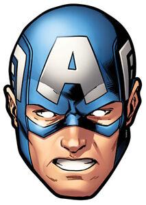 officiel captain america marvel the avengers carte partie - Masque Captain America