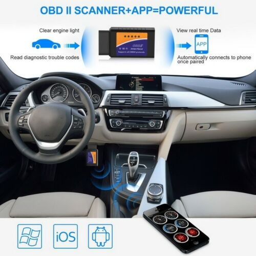 ELM327 WiFi Bluetooth OBD2 Car Diagnostic Scanner Code Reader Tool IOS Android P
