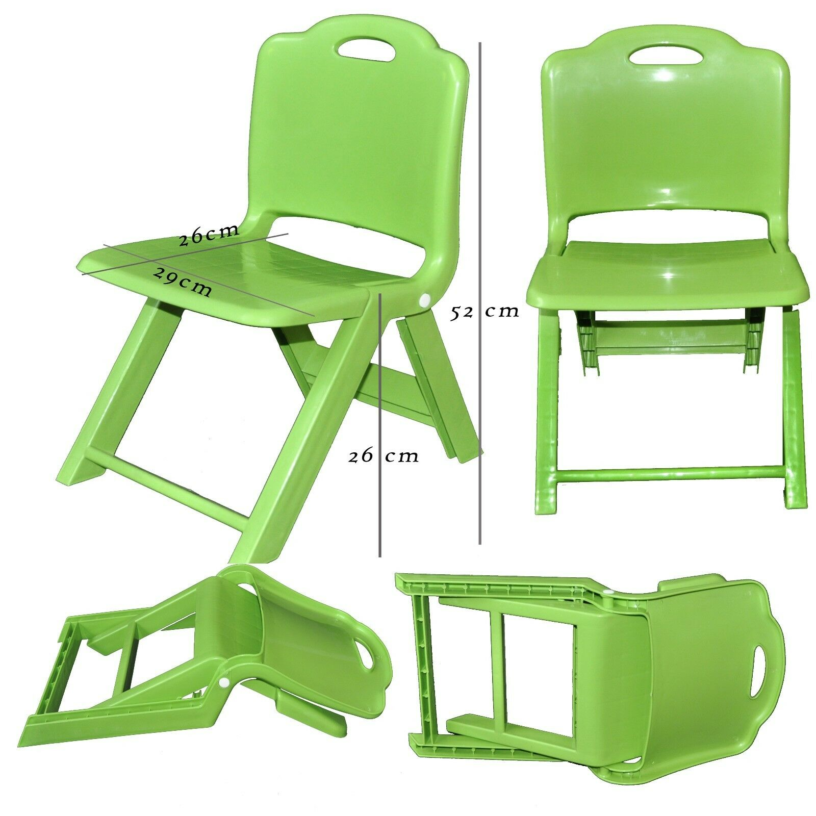 kids acrylic chair strong children plastic folding chair home picnic 11819