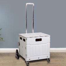 Folding Shopping Cart Utility Foldable Cart Withladder Wheelampadjustable Handle Usa