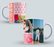 PERSONALISED TRAVEL MUGS COLLAGE PHOTO IMAGE PICTURES ADD TEXT GIFT TEA COFFEE