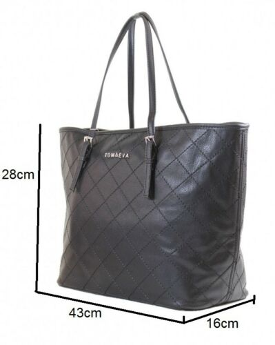 Tom /& Eva Damen Handtaschen Schultertasche Shopper neue Tasche bag Handbag 6-28B