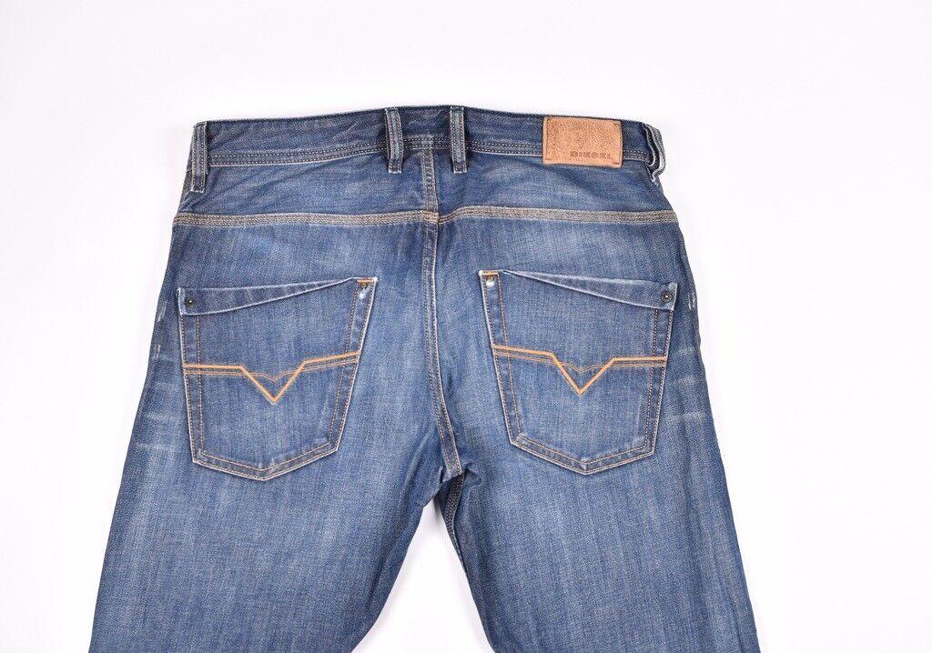 Diesel Krooley 885s 885s 885s Normale Passform Karotte Herren Jeans Größe 31 32 Echt a08cab