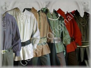 Landlord Medieval Shirt Laced Up Pirate Reenactment SCA Renaissance