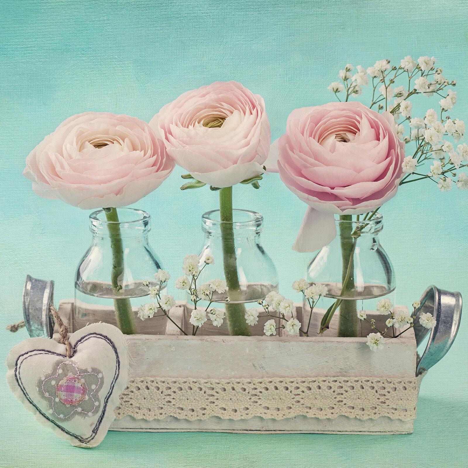 Trempé ESG verre Art Imprimé Photo Wall Art verre Photo Roses Rose Coeur Prizma GWA0332 8e6932