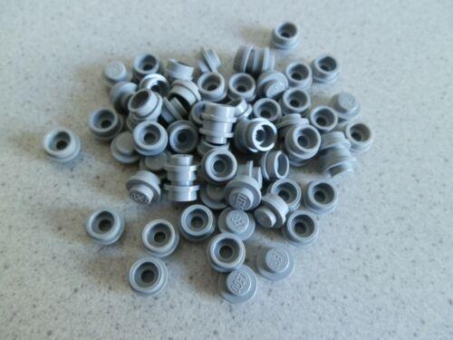Lego 4073# 60x Basic Platte Stein rund flach 1x1 grau neu hellgrau