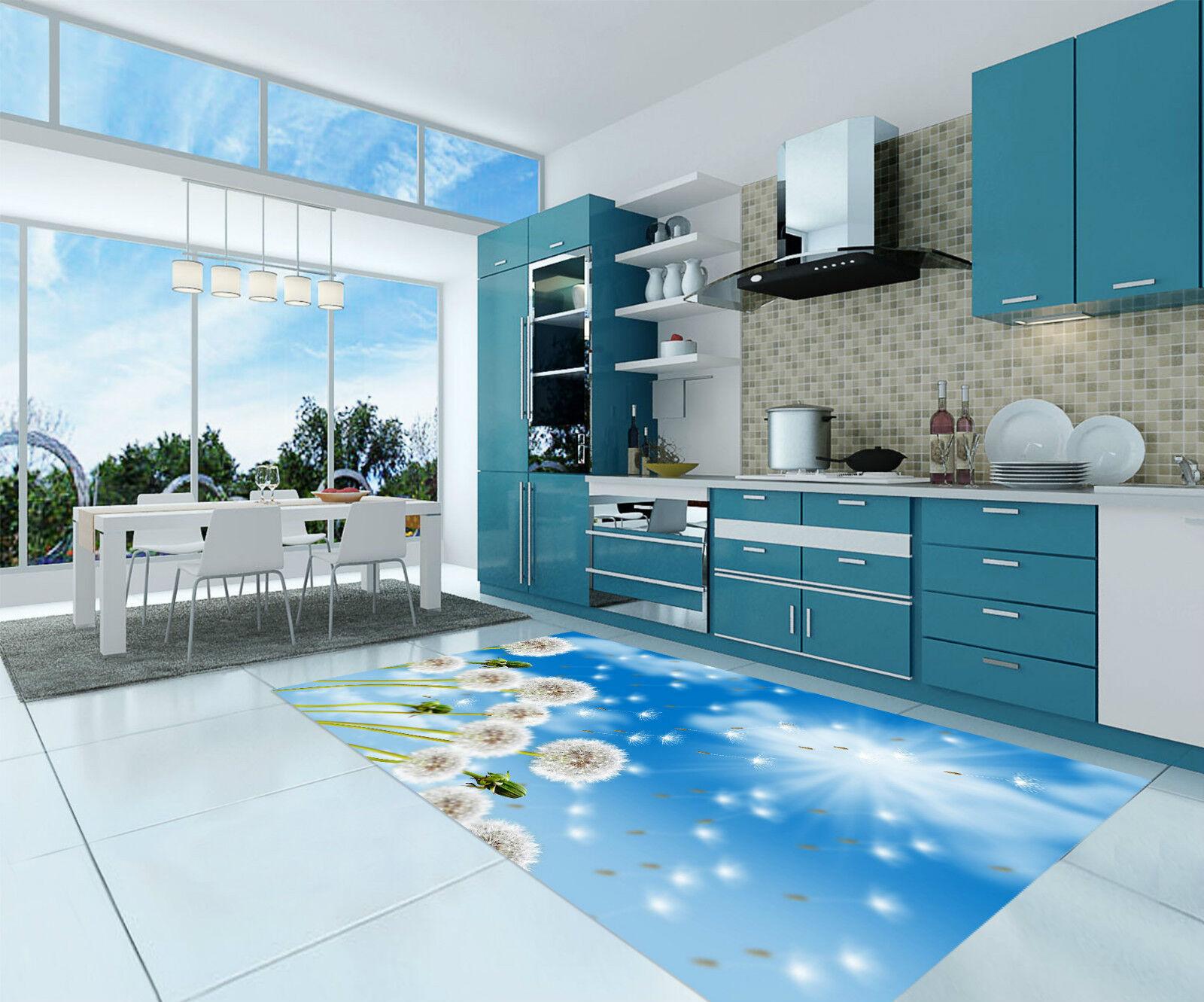 3D Dandelions 252 Kitchen Mat Floor Murals Wall Print Wall Deco AJ WALLPAPER CA