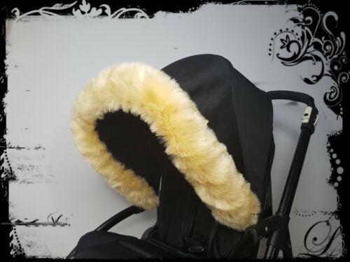 Pram Fur Hood Trim For Everyone Prams Pushchair Stroller Buggy Parts Accessories