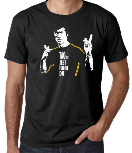 Mens Martial Arts Bruce Lee T-Shirt MMA Boxing Enter The Dragon Tao Jeet Kune Do