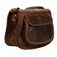 Fair Trade Handmade Dark Brown Leather Saddle Handbag