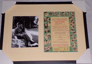 Natalie-Wood-amp-Robert-Wagner-Dual-Signed-Framed-Menu-amp-Photo-Display-JSA